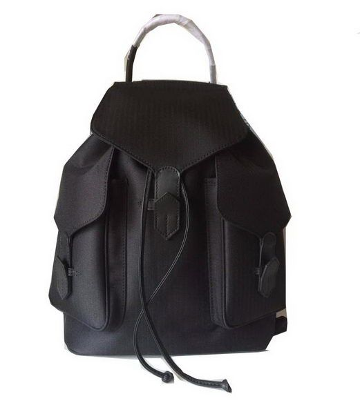 Hermes Canvas & Leather Backpack H1718 Black - $259.00