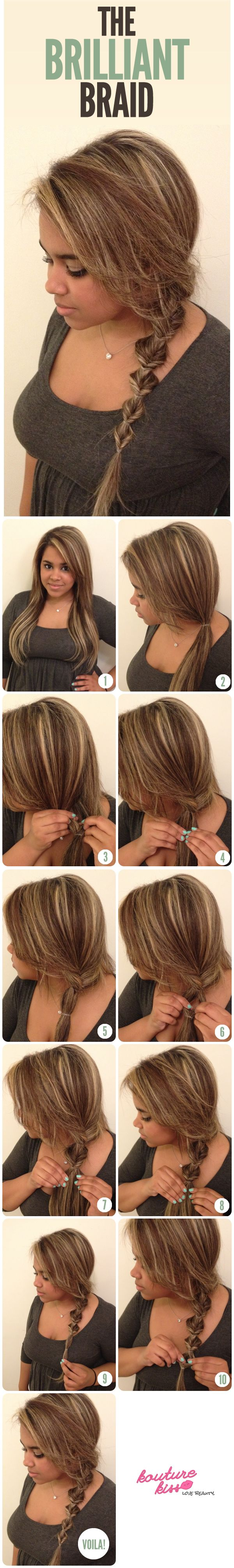 The Brilliant Braid..I see what you did there.. #hairstyle #DIY