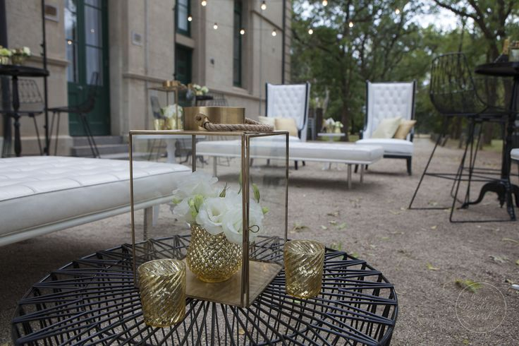 Elegant outdoor seating area | Werribee Mansion | Concepts & Styling by One Wedding Wish