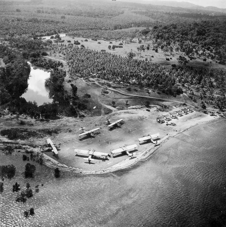 Catalinas at Espirito Santo, Pacific 1942 Sea Planes
