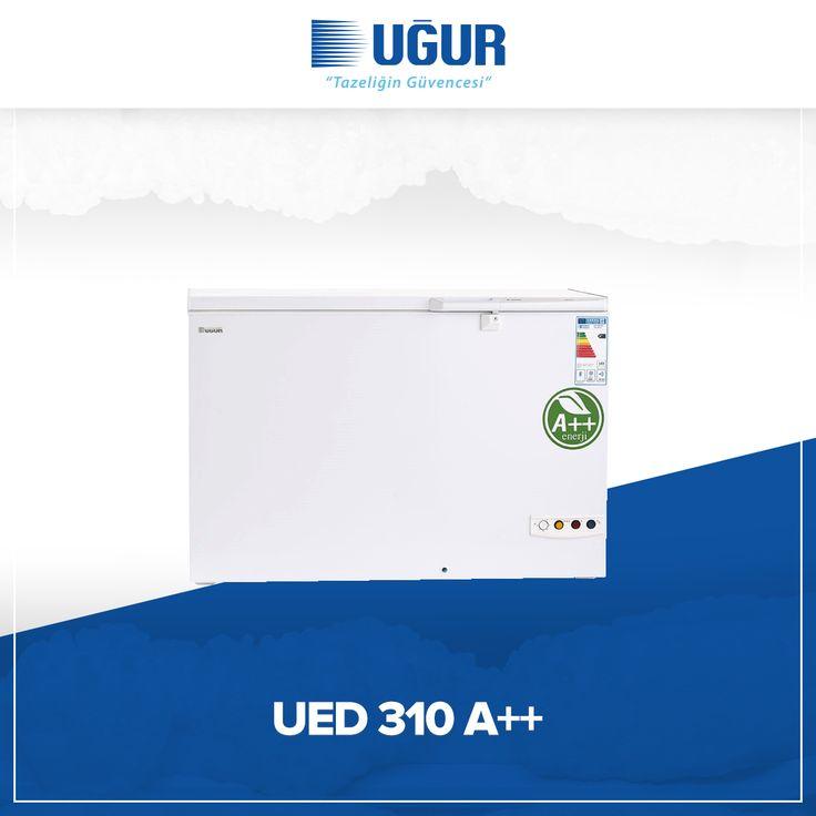 UED 310 A++ birçok özelliğe sahip. Bunlar; sağlam gövde yapısı, marka uygulama ve değiştirme kolaylığı, çok düşük enerji tüketimi, ayarlanabilir termostat, kolay ve esnek konumlandırma için opsiyonel 4 adet tekerlek, dolap içi aydınlatma, tek düğme ile hızlı şoklama. #uğur #uğursoğutma
