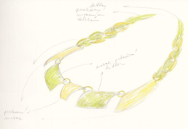 http://iris-jewellery.com/ návrh/design: Iris-Jewellery materiál/makings: mosaz/brass; látka/fabric.