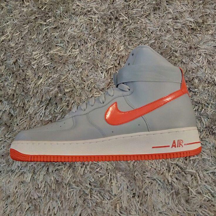 Nike Air Force 1 High '07 (Wolf Grey / Hyper Red)