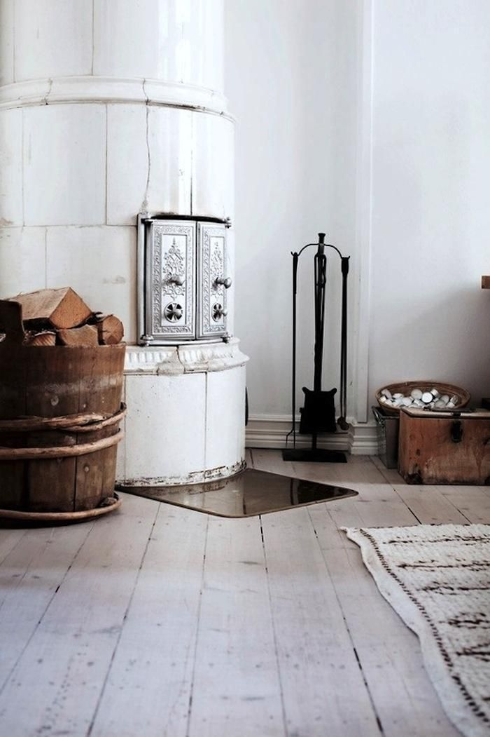 Traditional Swedish Tiled Stove, Remodelista. Always loved scandinavian stoves. Sellers contact in the text