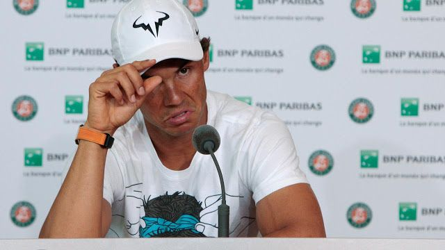 Injured Nadal out of French Open Murray slays giant   Spains Rafael Nadal gives a press conference to annonce his withdrawal from the French Open at the Roland Garros 2016 French Tennis Open in Paris on May 27 2016. Nine-time champion Rafael Nadal withdrew from the French Open with a left wrist injury today. Its not broken but if I continue to play it will be broken in a few days said an emotional Nadal the fourth seed. Cyrille CADET / AFP  Nine-time champion Rafael Nadal sensationally quit…