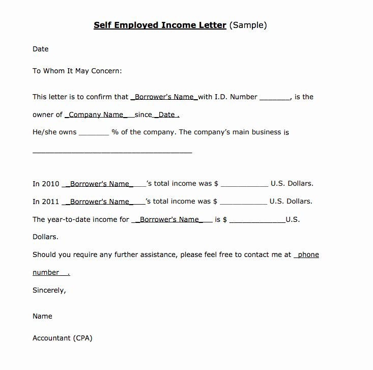 Income Verification Form Template Unique In E Verification Letter For Self Employed Lettering Letter Templates Letter Writing Template