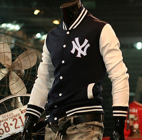 Wholesale NY Letter hight shool Letterman Jacke Navy [NY Letter hight shool Letterman Jacke Navy] - $56.70 : letterman jackets cheap