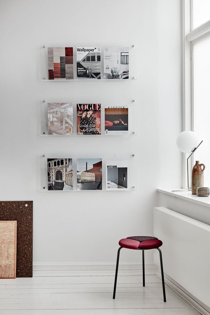 Discover magazine holder, design: Monika Mulder | Patch stool, design: Mia Cullin, Axel Bjurström | Styling: Katrin Bååth | Photo: Sara Landstedt