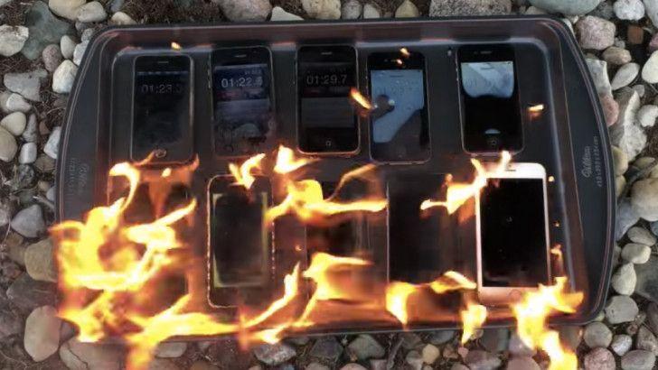 Tüm iPhone Modellerini Benzin Döküp Yaktı!