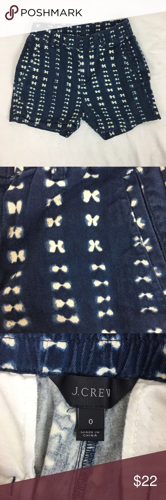 J. Crew Navy and Cream Polka Dot Shorts ADORABLE pattern Shorts by J. Crew. Navy and cream Polka Dot. Size 0. Elastic waist. GUC, slight fading from wear. The perfect summer short! J. Crew Shorts
