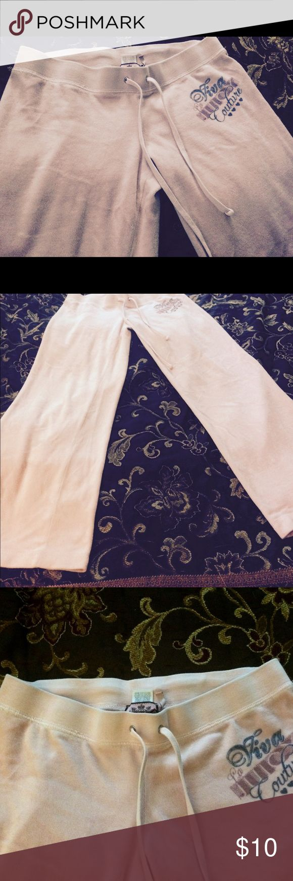 Juicy Couture velour plants light pink small Juicy Couture velour light pink pants. Worn twice inside the house. Size Small. No flaws. Juicy Couture Pants Track Pants & Joggers