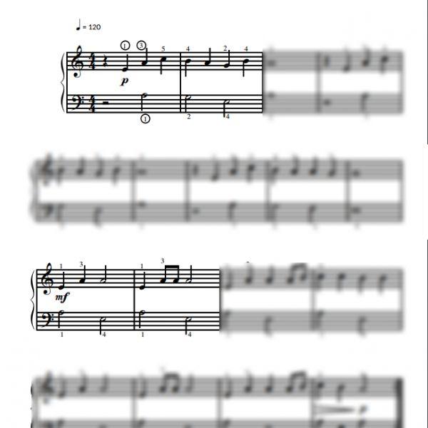 V'la l'bon vent - Partition piano facile pour débutants / Piano Notion
