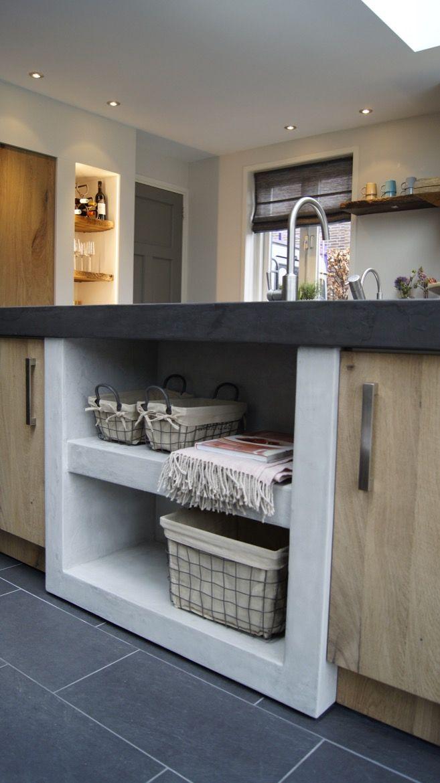17 beste idee n over grijs keukens op pinterest grijze kasten eetkeuken en grijze keukenkastjes - Idee deco keuken grijs ...