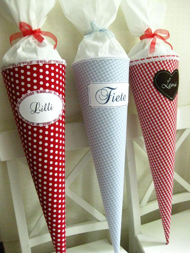 Schultüten - Niedliche Schultüte / Zuckertüte für Zuckermäus... - ein Designerstück von milimili-shop bei DaWanda