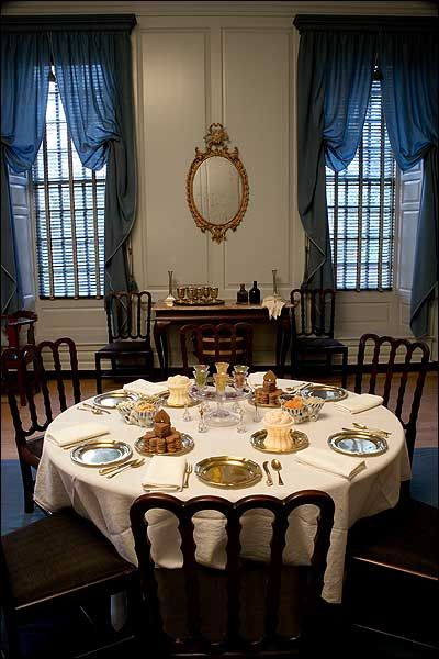 Ice Creams And Small Cakesu2014cookiesu2014on The Table In The Palace Dining Room  Colonial Williamsburg