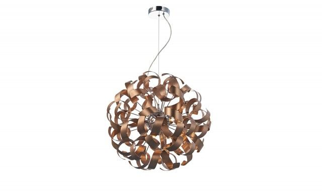 Rawley 9 Light Pendant Satin Copper