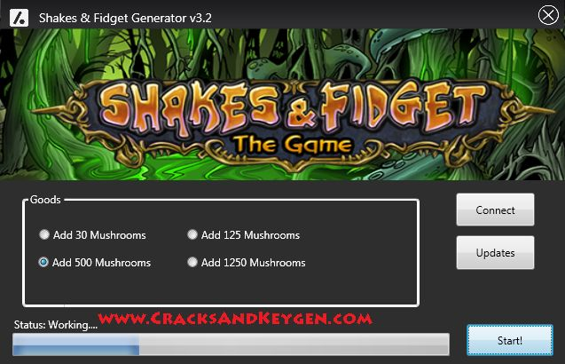 Shakes and Fidget Hack