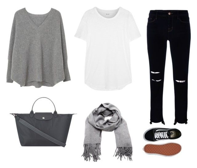 Street walk by andthisisthereasonwhy on Polyvore featuring polyvore, fashion, style, MANGO, Madewell, J Brand, Vans, Longchamp, Acne Studios and clothing