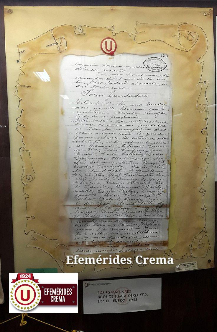 31/01/33 La Federación Universitaria de Fútbol se convierte en el Club @Universitario de Deportes, el club más ganador del fútbol peruano...