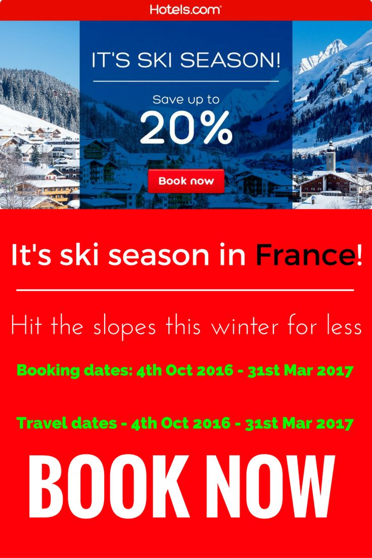 #SAVE20% on #Hotels in #France during this #Winter #SkiSeason. #BookNow. #Travel, #CheapHotels, #BudgetHotels, #BudgetFriendly, #europe, #european, #tourism, #tourists, #britain, #london.