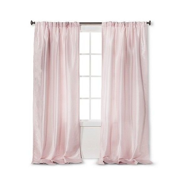 Simply Shabby Chic Faux Silk Pleat Curtain Panel Pink 24 Liked On