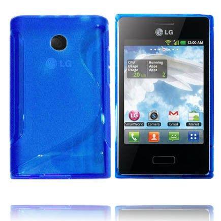 Transparent S-Line (Blå) LG Optimus L3 Deksel