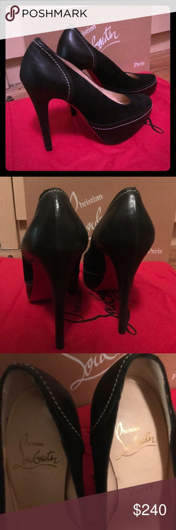 Christian louboutin Heels 100% authentic Christian Louboutin black Heels in excellent condition! Christian Louboutin Shoes Heels