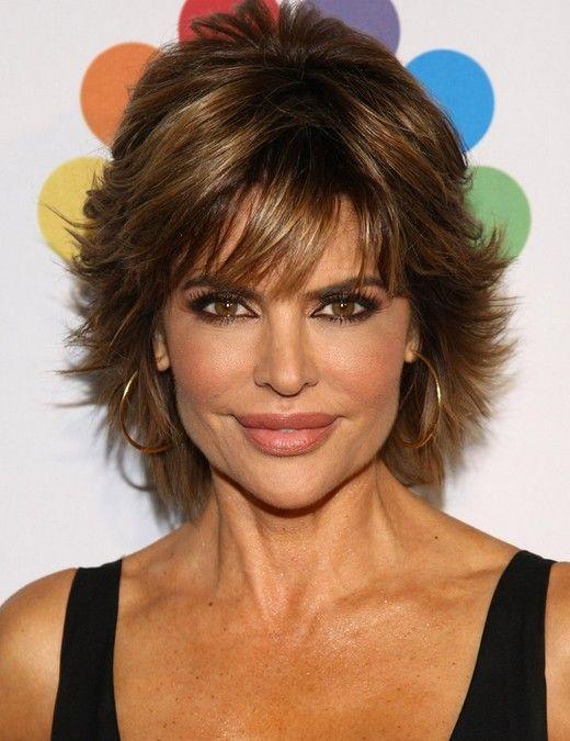 Lisa Rinna Latest Haircut | Lisa Rinna's Short Hairstyles: Pretty, Textured Haircut /Source ...