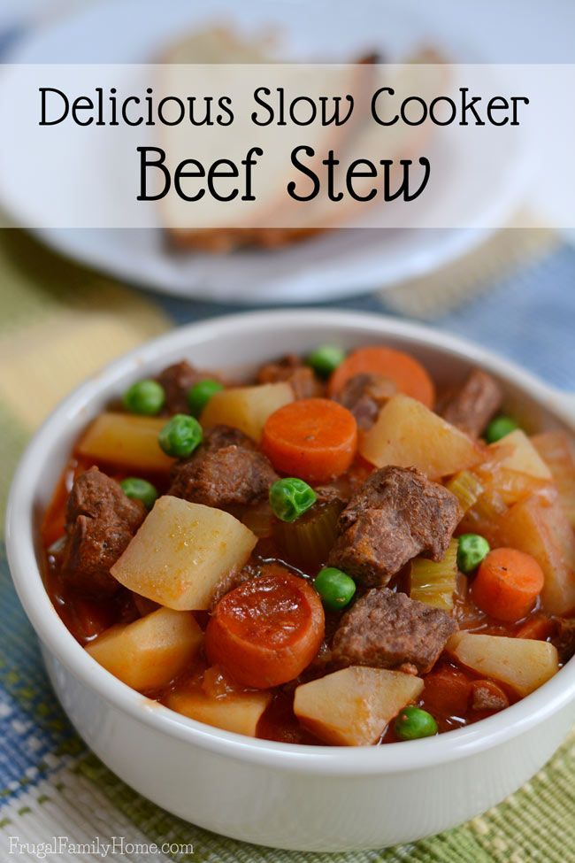 A warm hearty dish of stew hits the spot on a cool winter or spring day. This recipe is so delicious and easy to make because it's made in the slow cooker. Also, you might be surprised at just how inexpensive it is to make. I know when I read the cost breakdown of this recipe I was surprised it was so inexpensive.