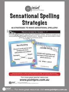 Print, cut and laminate these useful SPELLING STRATEGY CARDS.