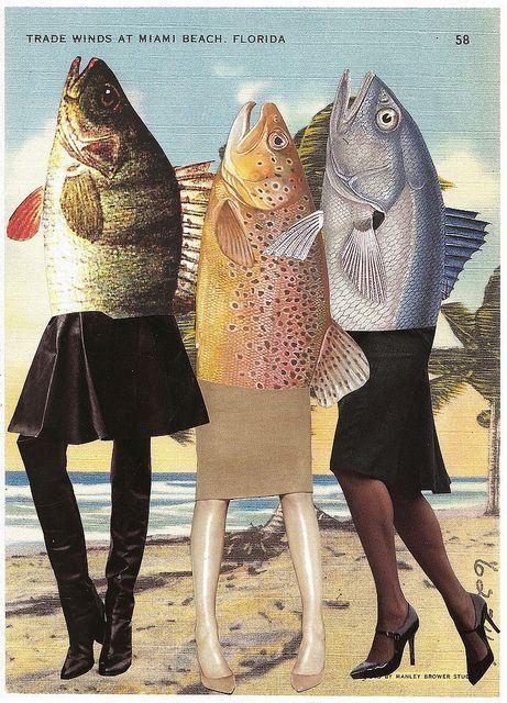 mermaids in miami - lynn skordal FISH HEADS!