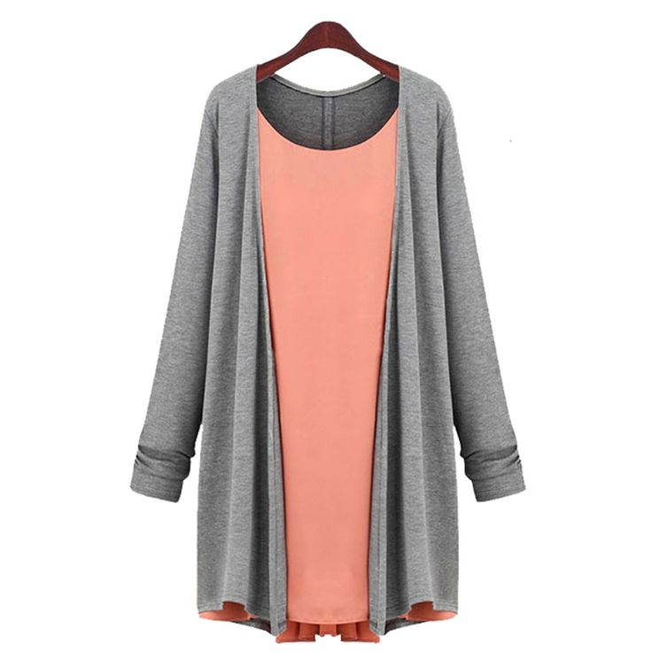 High Quality New Women Top European Style Fashion Plus Size Round Collar Fake Two Piece Long Sleeve Top Tees XMN1611156