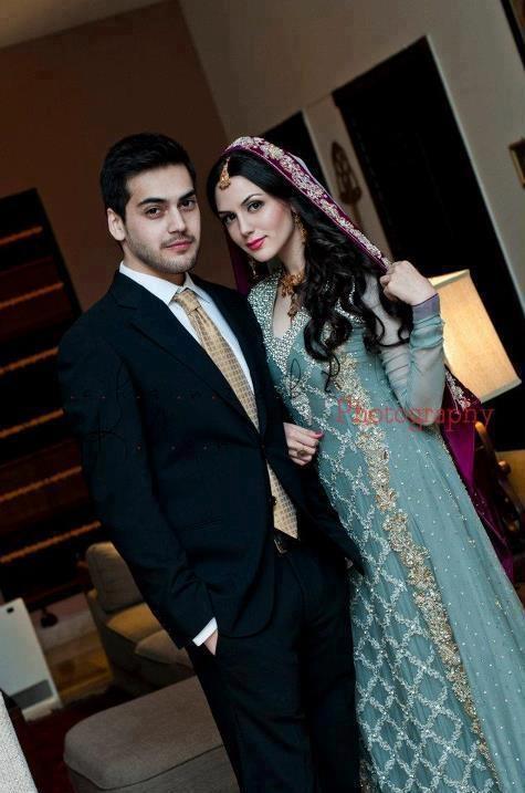 """A Pakistani Bride and Groom"""
