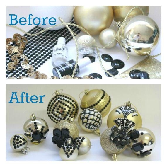 DIY Art Deco Christmas Ornaments @A Whole Lotta Love That Party