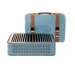 Triitme Mon Oncle BBQ - Azul. Una barbacoa retro ideal para el verano. Via Triitme!