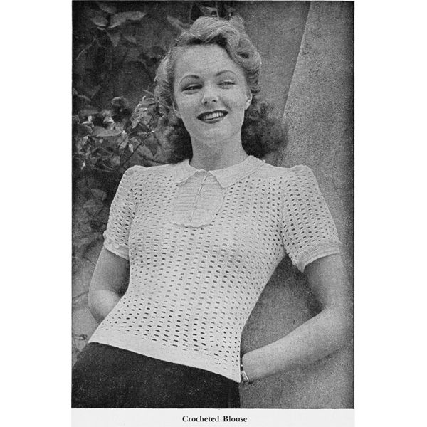 85 Best Crocheted Blouse Sweater Patterns Vintage Images On
