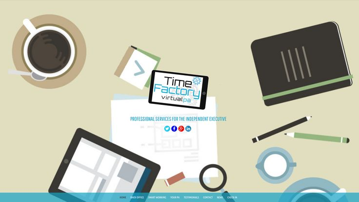 time factory is a new site for a virtual executive PA service based here in the North West.