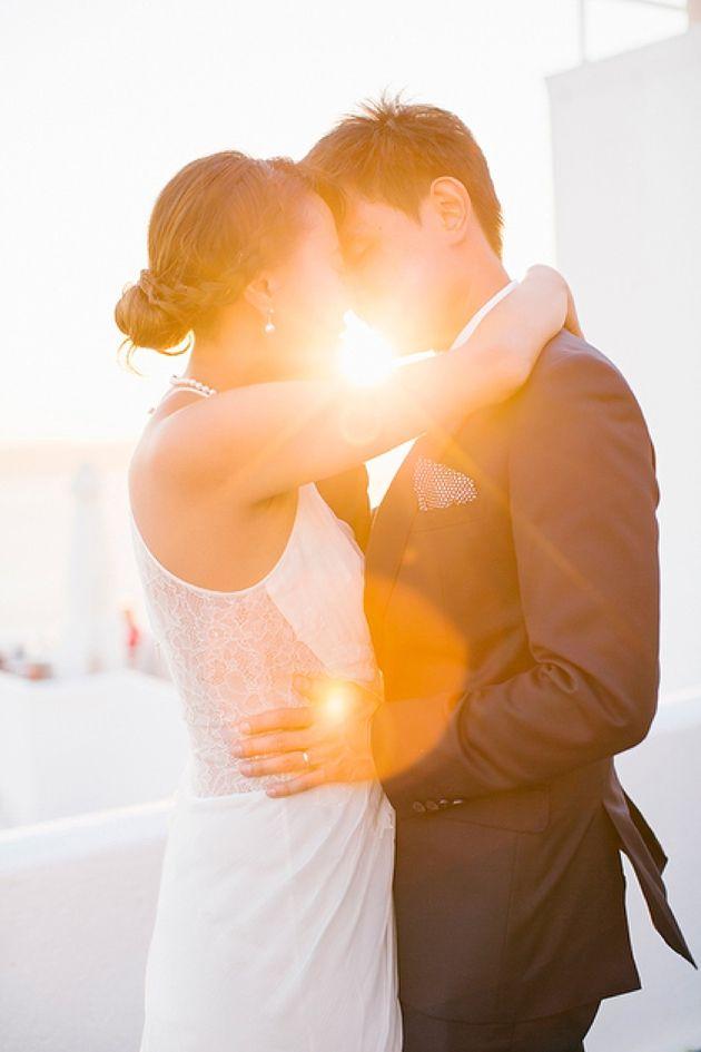 Intimate Santorini Wedding by Stella And Moscha #backlit