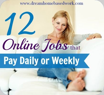 """A question I'm often asked, """"Are there any online jobs that pay Daily or Weekly?"""". So I decided to do some research and write an entire post about it."""