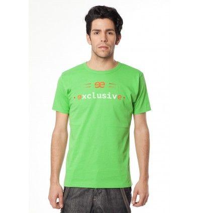 Camiseta de manga corta verde ee exclusive.