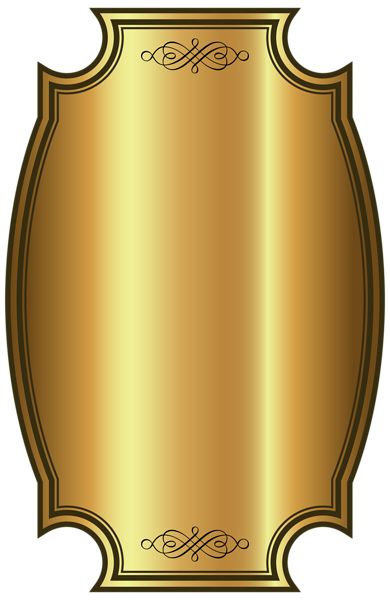 Luxury Gold Label Template PNG Clipart Picture