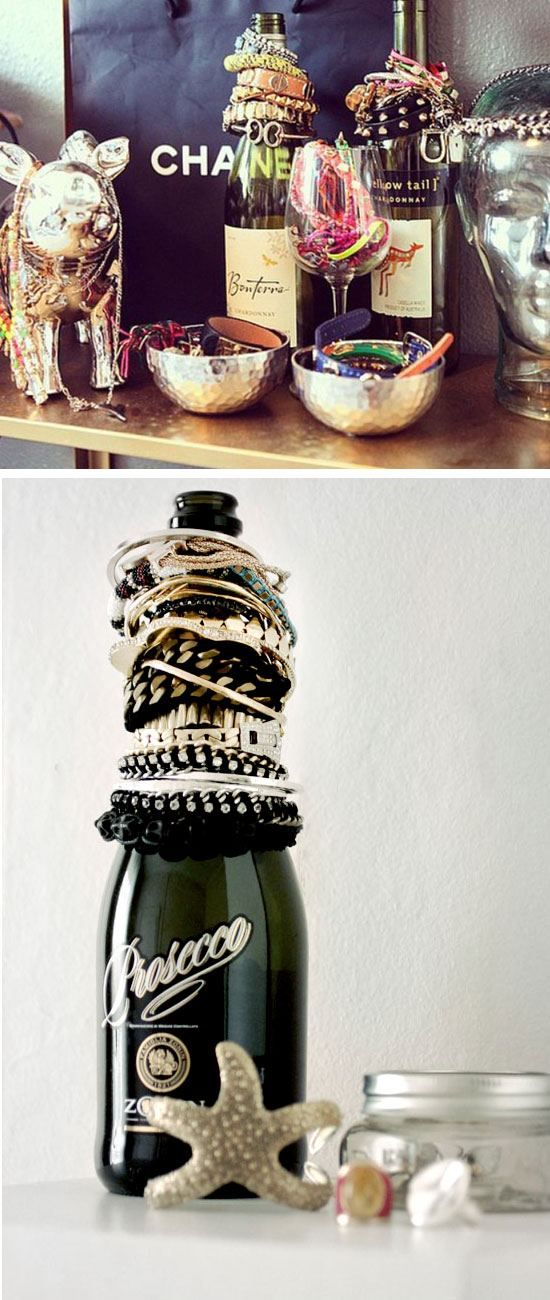 Wine Bottle Jewelry Organizer | 21 Life Hacks Every Girl Should Know | Easy Storage Ideas for Girls Bedrooms DIY