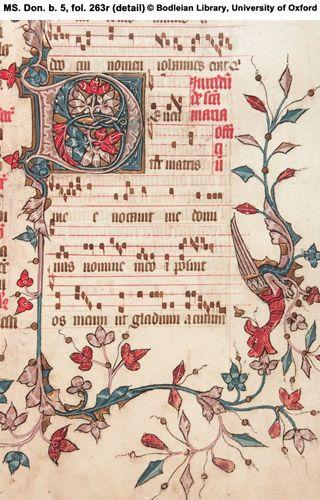 Annunciation to the Virgin (25 Mar.).  Initial 'D'(e).