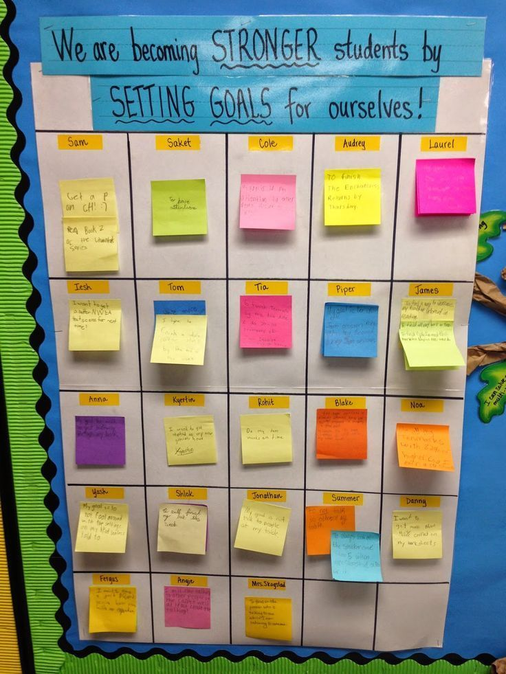 Task # 3: This aligns with the third task because students are each able to set goals for themselves and display it. This give students a chance to see that every student has a goal and it might help them learn to set goals for themselves in the future.