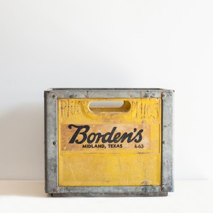 Borden Milk Crate I, $80, now featured on Fab. My Aunt Kate was the Nanny for the Borden Kids back in the 40's and 50's in Chicago , IL