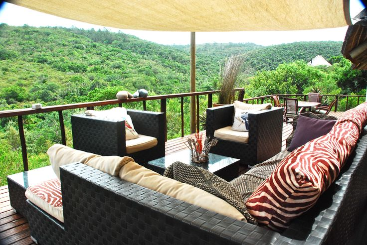 Sibuya Game Reserve Bush Lodge relaxing view deck Kenton on Sea, Eastern Cape, South Africa www.sibuya.co.za