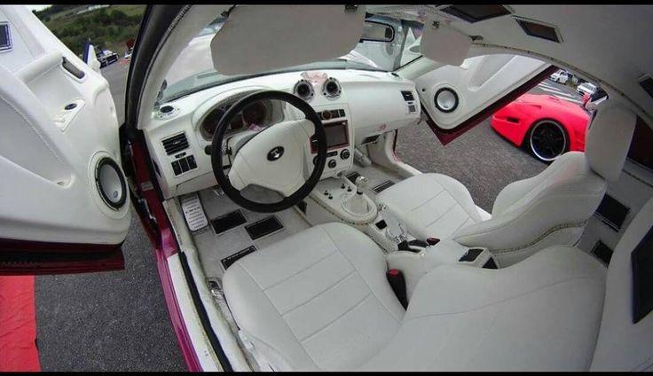 hyundai tiburon tuscani all white interior seats custom