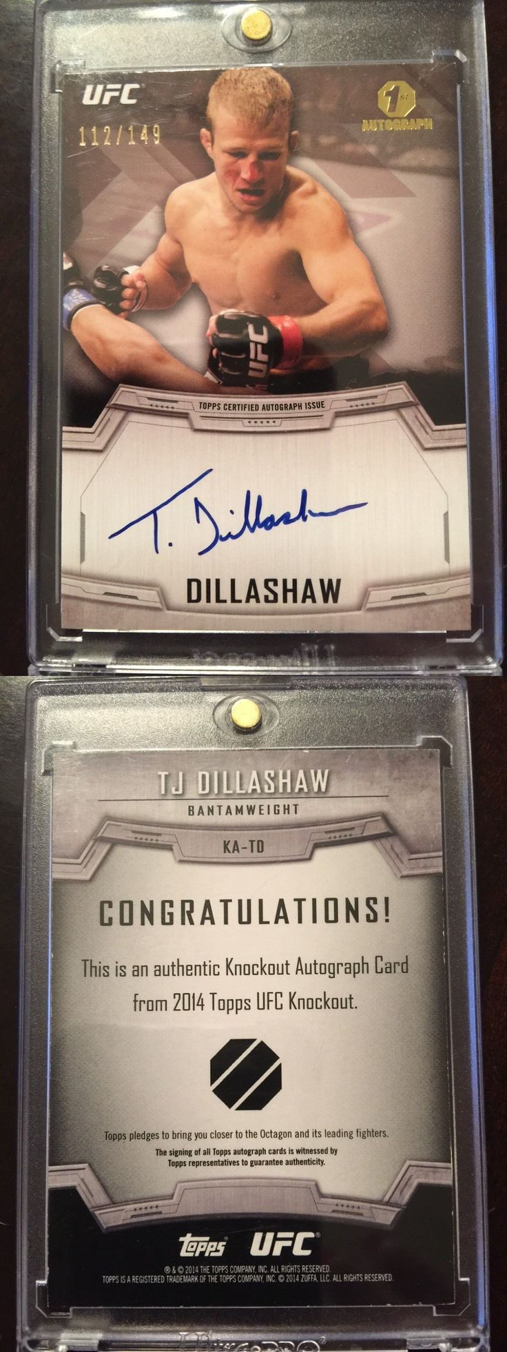 Mixed Martial Arts MMA Cards 170134: 2014 Topps Ufc Knockout Autograph Card 1St Auto Tj Dillashaw 112 149 -> BUY IT NOW ONLY: $59.99 on eBay!