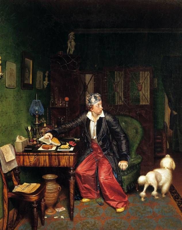 Павел Федотов (1815-1852) - Завтрак аристократа. 1848.