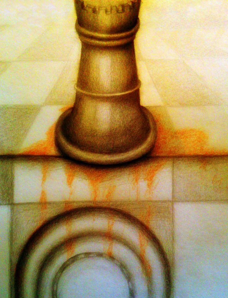 "Barbara Visca #drawings #sketch serie ""scacchi"" #Chess"